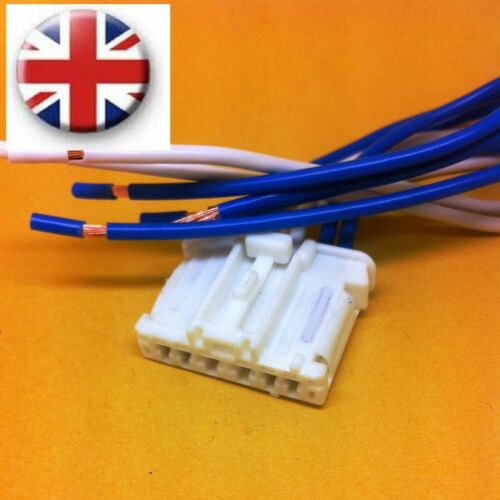 Peugeot 407 Tail Rear Light Lamp WHITE harness WHITE connector wiring loom
