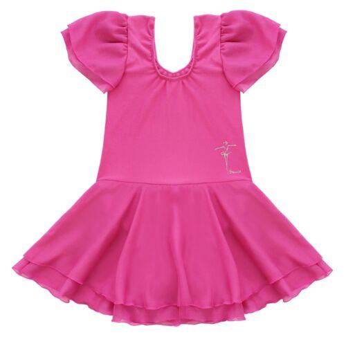 Girls Gymnastics Ballet Dress Toddler Kid Leotard Tutu Skirt Dance wear Costumes