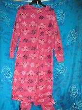 nwt Retro TV Pink Panther Cartoon Adult Footed Footie 1 Piece Fleece Pajamas L