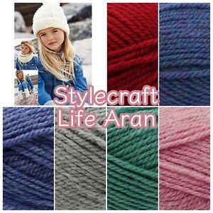 Stylecraft-Life-ARAN-Weight-Premium-Acrylic-Wool-Knitting-Yarn-100g