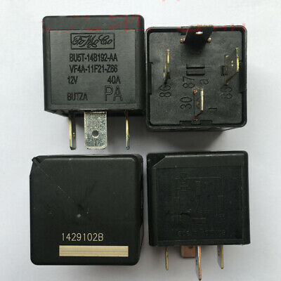 FoMoCo BU5T-14B192-AA VF4A-11F21-Z66 For Land Rover Jaguar Ford 4-Pin Relay