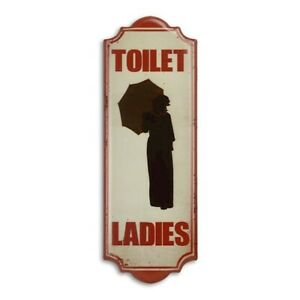 9973927-x Retro Vintage Tin Sign Wc Toilet Ladies 35, 5x12, 5cm