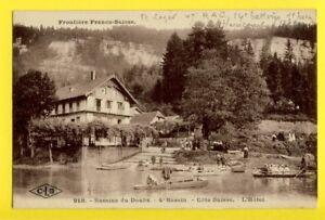 cpa-Ecrite-de-HERICOURT-BASSINS-du-DOUBS-4e-bassin-Cote-SUISSE-L-039-HOTEL-Animes