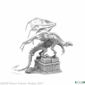 Reaper-Miniatures-Zombie-Dragon-77466-Bones-Unpainted-Gray-Plastic-Mini-Figure