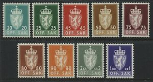 Norway-Officials-partial-set-unmounted-mint-NH