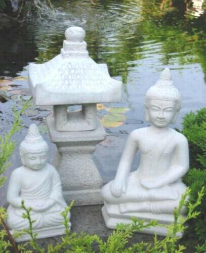 Japanische Steinlaterne 2 x BUDDHA YUKIMI K Gartendekokoration Koiteich