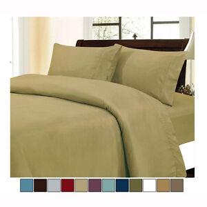 Melano-Brushed-Microfiber-Luxury-4-Piece-Sheet-Set-Choice-of-4-Sizes-12-Colors