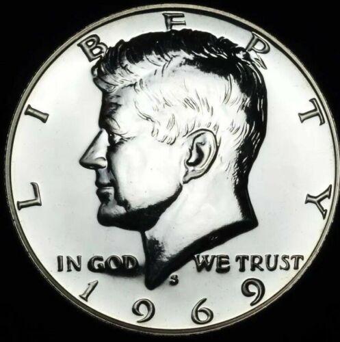 1969-S BU Kennedy Half Dollar~40/% Silver~Gem Proof~Brilliant Uncirculated~!