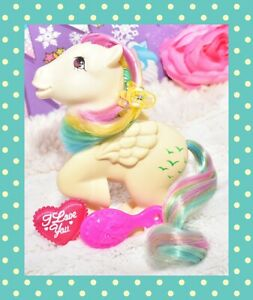 My-Little-Pony-MLP-G1-Vtg-FRANCE-French-Rainbow-SKYDANCER-Pegasus-NIRVANA
