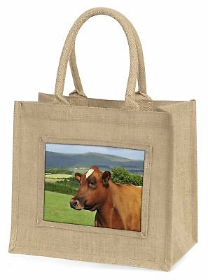 Eine braun Rind Große natürliche jute-einkaufstasche Weihnachten Geschenkidee,