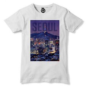 MAGLIETTA-Seoul-in-Corea-del-sud-maglietta-Asia-TOP-Cityscape-GRATTACIELI-dongdaemun-154