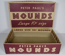 Vtg 1950s PETER PAUL'S MOUNDS STORE DISPLAY ADVERTISING CANDY BAR BOX 10 CENTS
