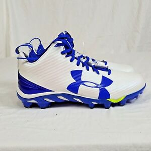 UNDER-ARMOUR-UA-SPINE-FIERCE-MC-FOOTBALL-CLEATS-White-1269740-142-MENS-SZ-9-New