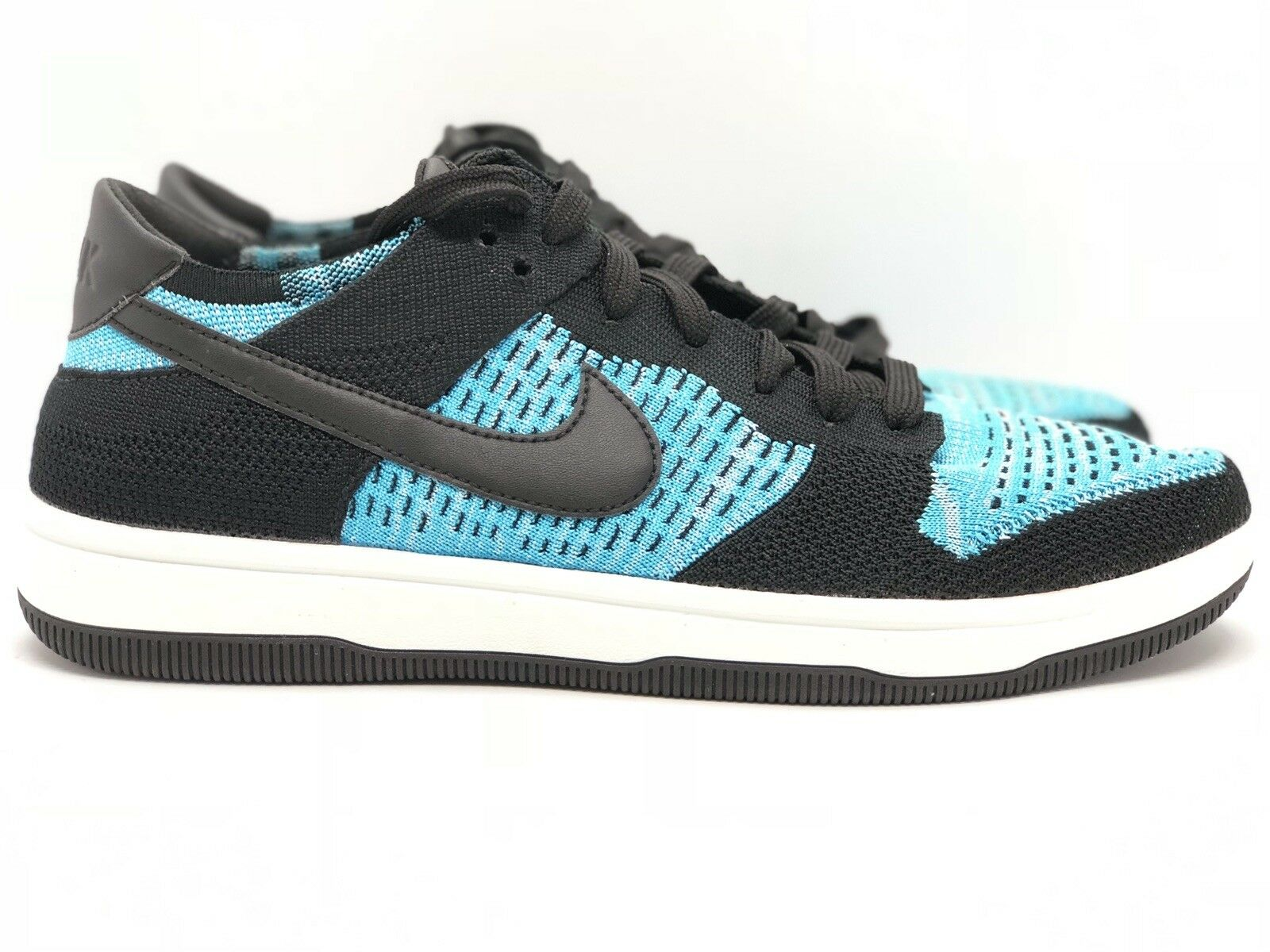 New Nike Dunk Flyknit Black   Chlorine bluee 917746-001 Size 9.5 US