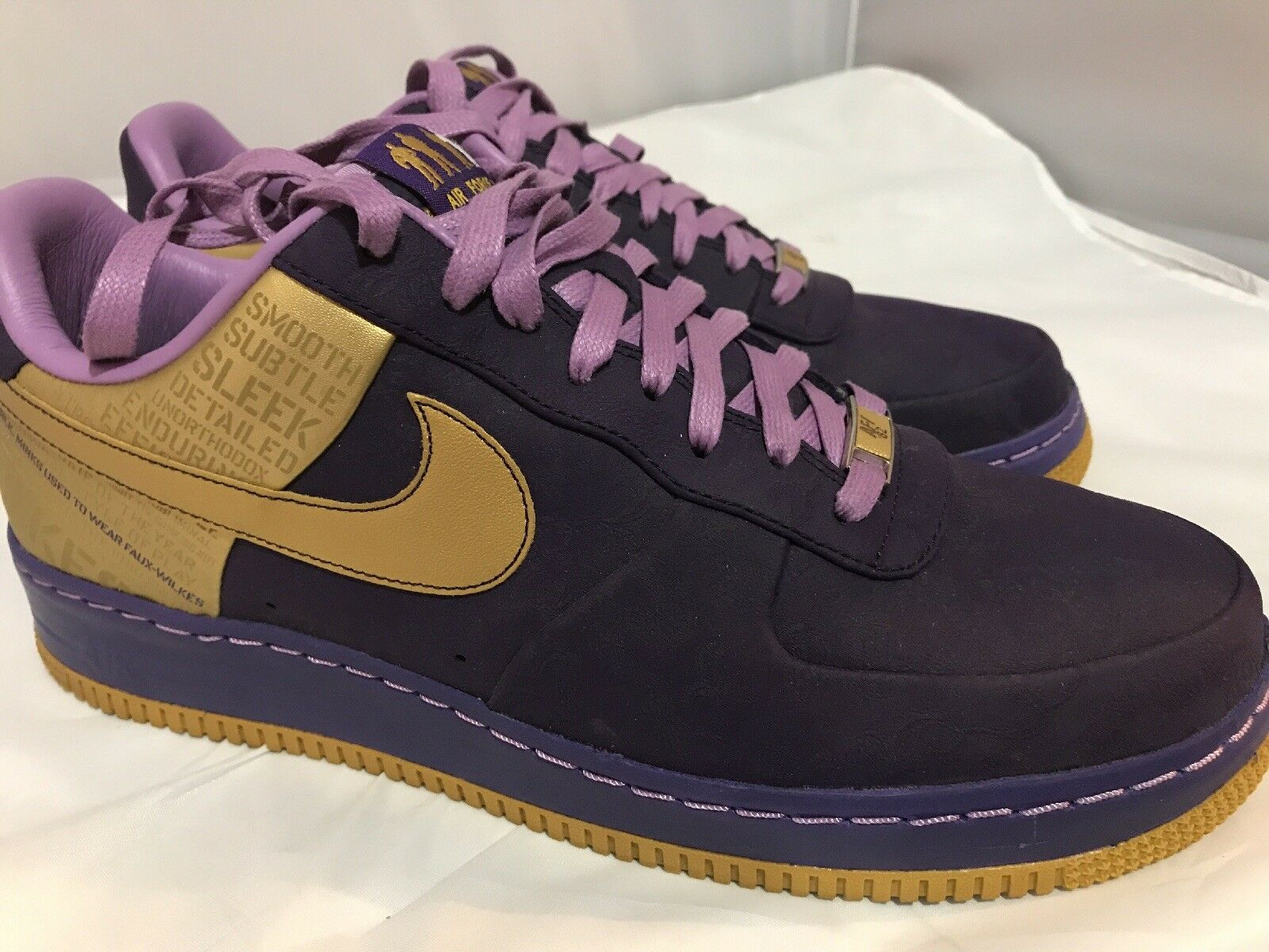 quality design e867f 2804f Viola 07 1 Supremo Lakers Force Anniversario Oro Nike Air Wilkes FY1qfcRw