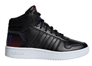 Adidas-HOOPS-MID-2-0-K-EE8547-Nero-Scarpe-da-Ginnastica-Bambino-Comode