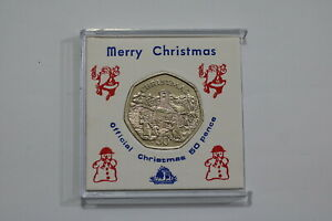 ISLE-OF-MAN-50-PENCE-1996-CHRISTMAS-VERY-RARE-CASED-B21-CP10