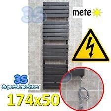 3S TERMOARREDO ELETTRICO 174x50 METEO ANTRACITE SCALDASALVIETTE BAGNO RESISTENZA