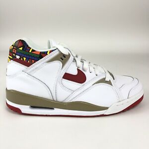 Nike-Air-Bound-2-Mens-Size-9-Shoes-White-Varsity-Red-Khaki-Mid-Retro-318656-161