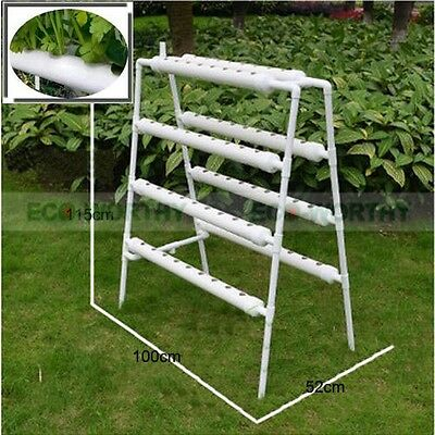 New Hydroponic System Site Grow Kits 72 Holes Ebb and Flow Deep Water Ladder