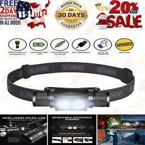 Lig... SLONIK 1000 Lumen Rechargeable 2x CREE LED Headlamp w// 2200 mAh Battery