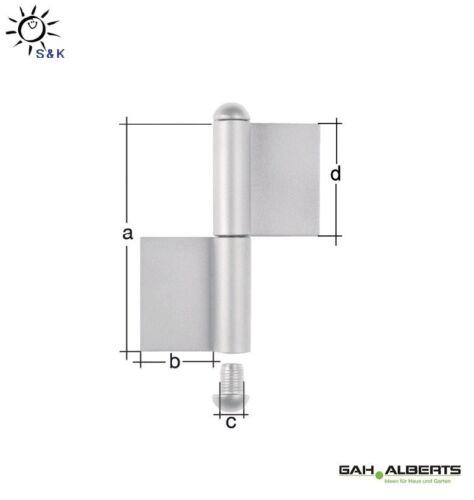 Konstruktionsband Edelstahl zum Anschweißen Typ K04 zweiteilig von GAH Alberts