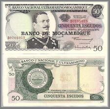 Mozambique P116, 50 Escudos, Coutinho / sailing ship 1976  UNC - LARGE $3 CV