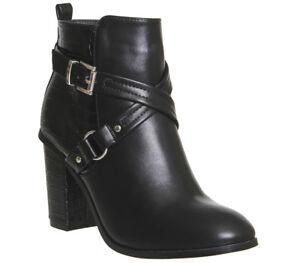 Stivaletti Uk taglia pelle Lorna da Strap donna Office Boot in Detail 8 con zip 7fAwInx