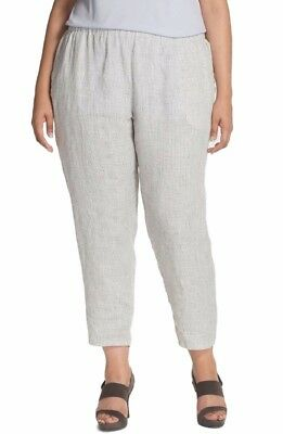 Eileen Fisher Ankle Length Organic Linen Pants 2X Natural NWT $198