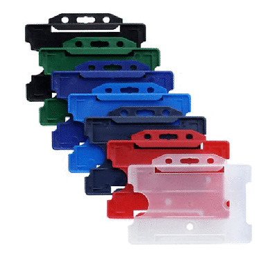 25 Kartenhalter PP porte-badge rigides rigid cardholders 6 Farben