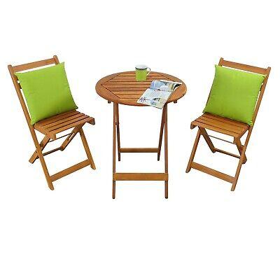 Balkonset 3 Teilig Gartenmobel Set Mit 1 Tisch Rund Und 2 Stuhlen