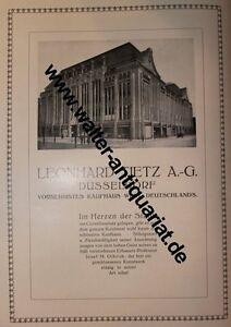 35e908debf0648 Das Bild wird geladen Warenhaus-Leonhard-Tietz-Duesseldorf-Kaufhaus -Grosse-Werbeanzeige-von-