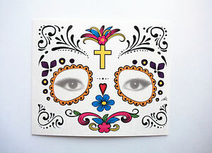 HALLOWEEN-DAY-OF-THE-DEAD-PARTY-TEMPORARY-FACE-TATTOO-COSTUME-ACCESSORY-STICKER
