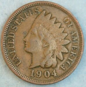 1904 Indian Head Cent Penny Liberty Very Nice Vintage Old Coin Fast S&H 34032