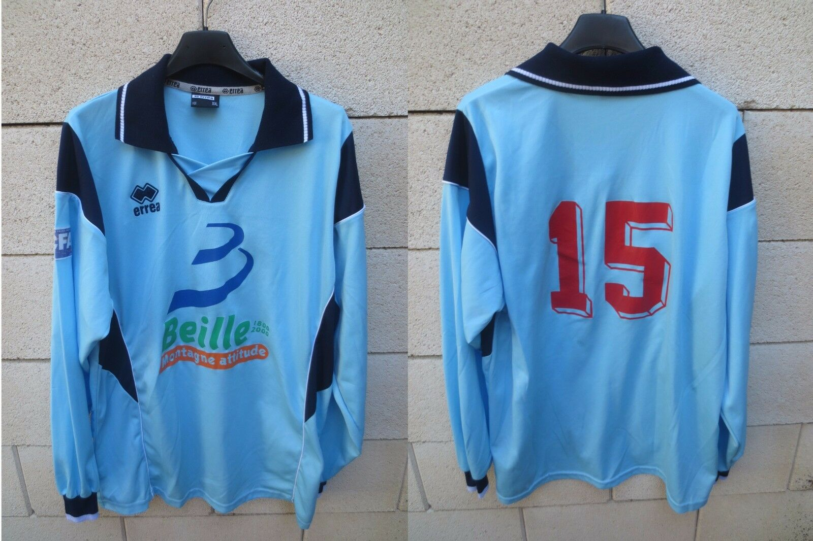 Maillot LUZENAC LAP porté n°15 CFA shirt manches longues Erreà trikot XXL