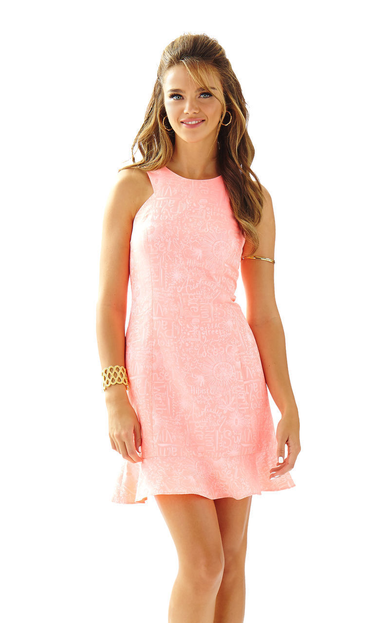NWT LILLY PULITZER Peachy Rosa Liana Word on The Street 4 and 8