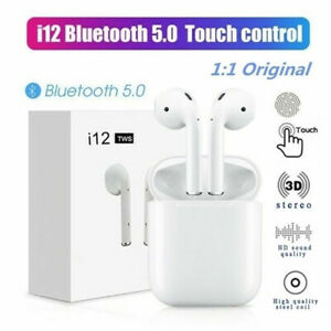 i12-TWS-Bluetooth-5-0-Ohrhoerer-Wireless-Headphone-Earphones-Fuer-iphone-Android