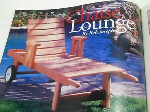 Superb Details About Chaise Lounge Woodworking Pattern Make Redwood Reclining Patio Chair Wood How To Gmtry Best Dining Table And Chair Ideas Images Gmtryco