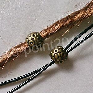 2x Bead Charm Perle Haarperle Bartperle Dreadlocks Folklore Vintage Bronze