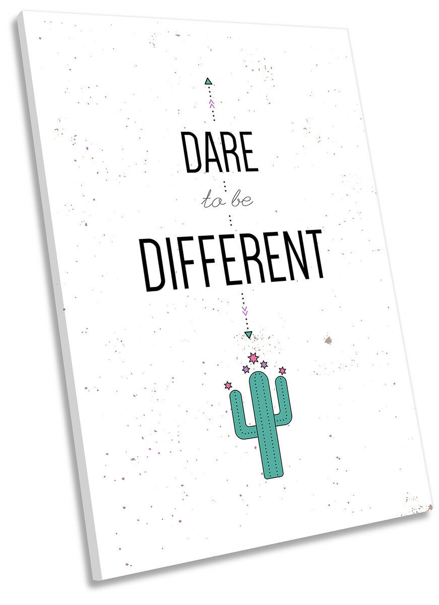 Dare to Be Different Picture CANVAS WALL ART Portrait Print