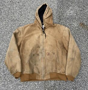 Vintage-90s-Distressed-Carhartt-Hooded-Work-Jacket-Size-Large