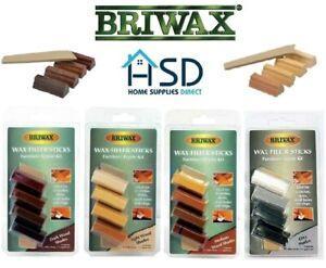 Briwax Cera Filler Bastoncini Arredamento Kit Riparazione Legno Zero Dent Foro