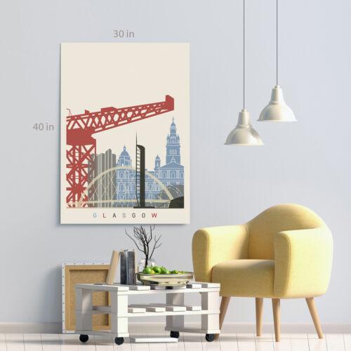 Glasgow Skyline Canvas Wall Art Picture Print
