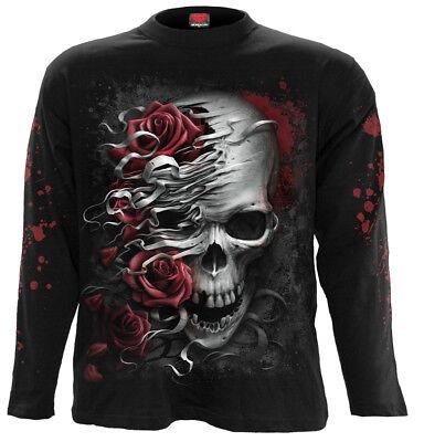 Spiral Direct libéré T-shirt blanc//Motard//grimreaper//goth//Skull//Tattoo//Top