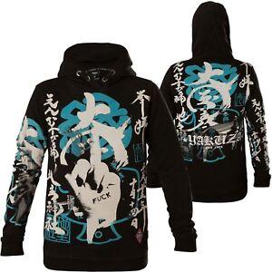Black Damen Flex Japanese Yakuza Hoodies Schwarz Hoodie Ghob 13102 C7Ydwq