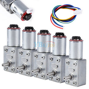 10-100RPM-DC-12V-Gear-Box-High-Torque-Geared-Motor-Reduction-Motor-with-Encoder