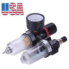 """1/4"""" Air Pressure Regulator Oil/Water Separator Trap Filter Airbrush Compressor"""