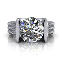 2.6 Ct Diamond Engagement Rings Solid 14Kt White Gold Band Sets Size 5 6 7 8