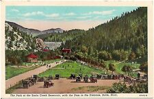 Park at the Basin Creek Reservoir in Butte MT Postcard