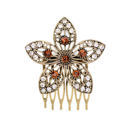 Vintage Pearl Rhinestone Alloy Women Elegant Hair Comb Barrette Headwear Jewelry